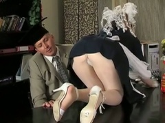 Nasty brunette cleaning girl in delicious raw pussy pounding