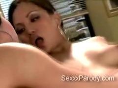 2 turned on hotties share meaty schlong in 30 Rock XXX parody