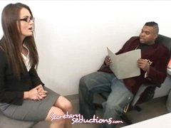 Tori Black and Rico Strong get horny in the office