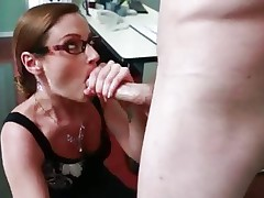 Samantha Ryan shoves this hard dick down her throat