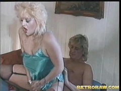 Big blond rides the cock