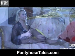 Ida A&Gideon naughty pantyhose action