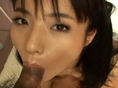 Blameless-looking Momo Jyuna will keep u hawt as that babe greedily sucks dong with her luscious mouth. That Babe has no qualms swallowing a large ramrod and play it with her tongue. This Japanese angel is taken to heaven whilst getting her constricted cunt fucked by an Oriental stud. Check out her bewitching bushy wet crack being attacked by an angry dick