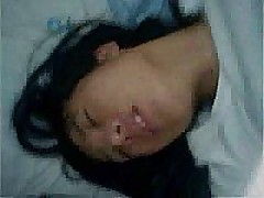 Grainy, shaky and noisy mobile phone video of Korean amateur teen Hye Jin taking her older lovers cock in her hairy pussy and riding him into oblivion while carrying out all precautions proscribed by safe sex regulations.