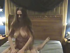 She has realy beautiful long hair and full breasts. Riding a cock is her morning sport and her horse likes the morningtrip.