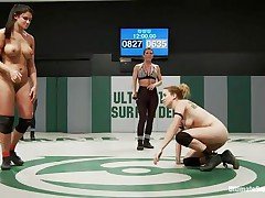 Crazy strong bitches are fighting naked because they want to win the ultimate prize, to dominate the other player. If the sluts touch their opponent`s pussy and licks it or fingers it, they will surely win the fight. Sexy clutches help a lot to reach the cunt easier. Sometimes it feels to good to move aside!