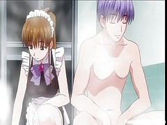 It's hard to find a good maid these days, most of them are just cute and clumsy. This one for example is as pretty as stupid and her master got sick and tired so he's going to use her for something else. After he putted her to rub his soapy cock the guy gives her a hard fuck from behind, showing that she's good for something.