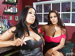 Kiara Mia and Nina Mercedez are two sexy MILFs those love to play lesbo often. In a bar, these two were alone and their homosexuality jumps out of their cages for a dominating hardcore lesbian love. One of them got rough with another one and made her to strip, suck boobs & nipples, get ass slapped and pussy licked.