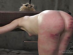 That perfect ass deserved a good beating only that the executor crossed the line and bruised it. Look at it how fucked up it is, would you like to fuck an ass like that? Of course you will, it's hotter! Sara is a blonde slut that enjoys being spanked until her ass turns red and purple, wanna see what else she likes?