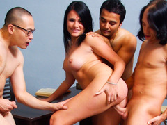 Indian Wife Pleases Her Spouse & Gets Drilled By His Allies