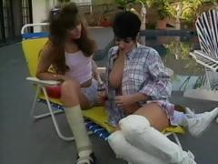 Hot Jeanna Fine is with her lesbo lover having poolside sex