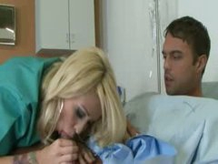 Tatooed blondie fucked by the doctor