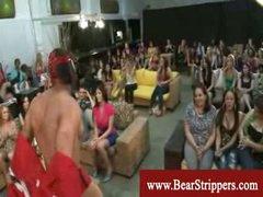 CFNM stripper knob games with ravenous ladies
