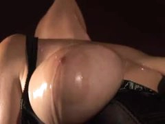 Dungeon bitch in black corset has fun sex